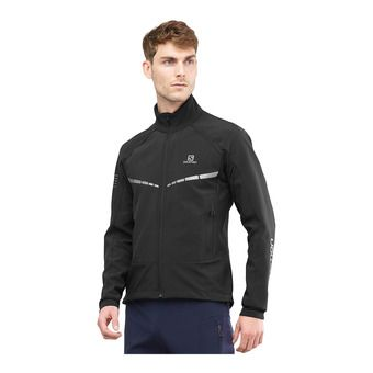Salomon RS WARM SOFTSHELL - Chaqueta hombre black