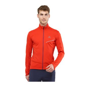 Salomon RS SOFTSHELL - Chaqueta hombre fiery red/biking re