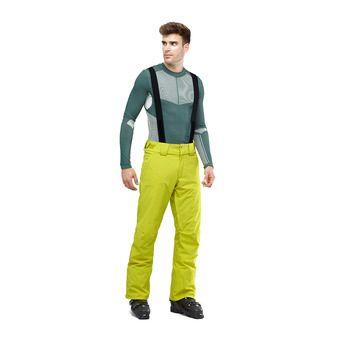 Salomon STORMSEASON - Pantalon ski Homme citronell