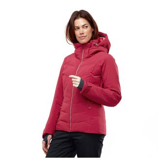 Salomon ICEPUFF - Ski Down Jacket - Women's - rio red