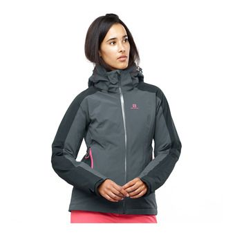 Salomon BRILLIANT - Veste ski Femme ebony/black