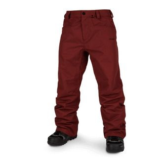 Volcom CARBON - Pantaloni snowbord Uomo burnt red