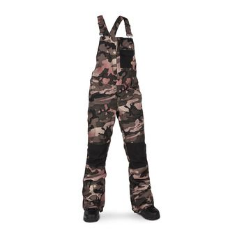 Volcom SWIFT BOB OVERALL - Bib Snow Pants - Women's - faded army