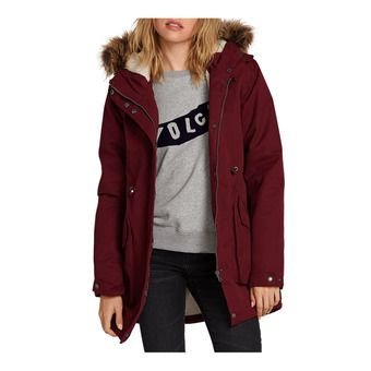 Volcom LESS IS MORE 5K - Parka Femme zinfandel