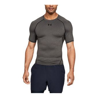 UA HG ARMOUR SS-GRY Homme Carbon Heather1257468-090