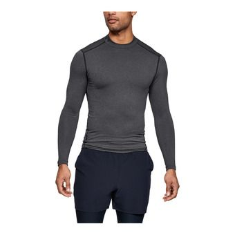 Under Armour CG ARMOUR MOCK - Camiseta hombre carbon heather