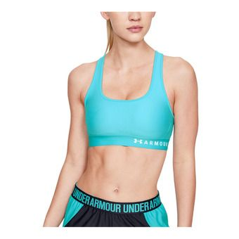 Under Armour ARMOUR MID CROSSBACK - Brassière Femme breathtaking blue