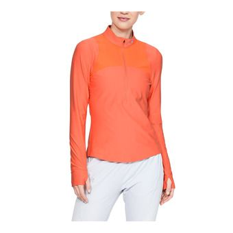 Under Armour QUALIFIER - Camiseta mujer coral dust