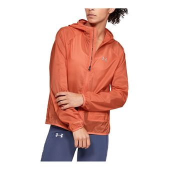 UA Qualifier Storm Packable Jacket-RED Femme Coral Dust1326558-642