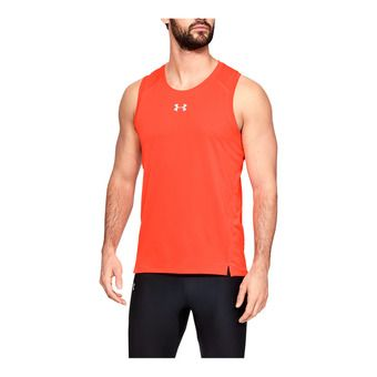 Under Armour QUALIFIER - Camiseta de tirantes hombre beta red