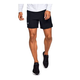 Under Armour QUALIFIER SPEEDPOCKET 7'' - Short Homme black
