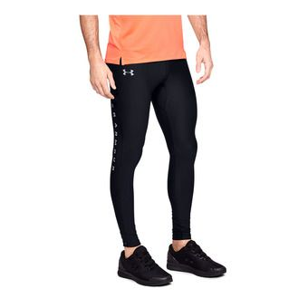 Under Armour QUALIFIER HEATGEAR GLARE - Mallas hombre black