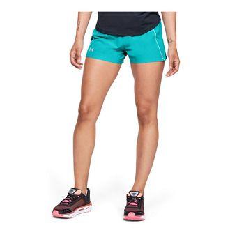 UA Qualifier Speedpocket Short-BLU Femme Breathtaking Blue1342856-400