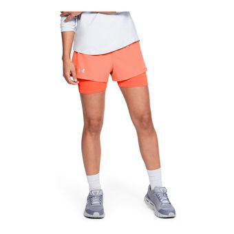 UA Qualifier Speedpocket 2-in-1 Short-RE Femme Coral Dust1342859-642