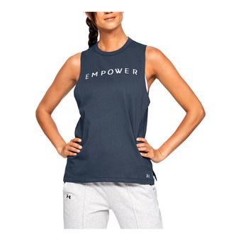 Under Armour GRAPHIC EMPOWER MUSCLE - Canottiera Donna downpour gray