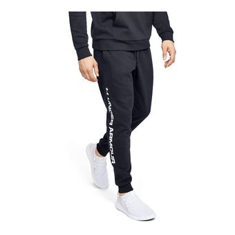 Under Armour RIVAL FLEECE WORDMARK LOGO - Pantalón de chándal hombre black