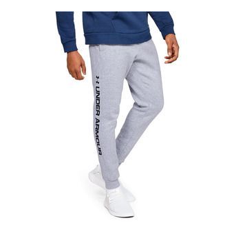Under Armour RIVAL FLEECE WORDMARK LOGO - Pantalón de chándal hombre steel light heather