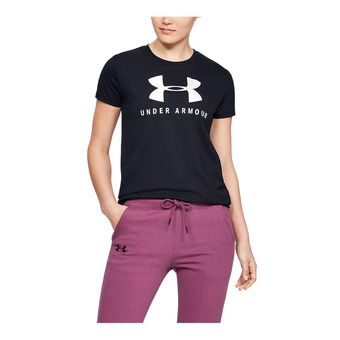 Under Armour GRAPHIC SPORTSTYLE CLASSIC CREW - Tee-shirt Femme black