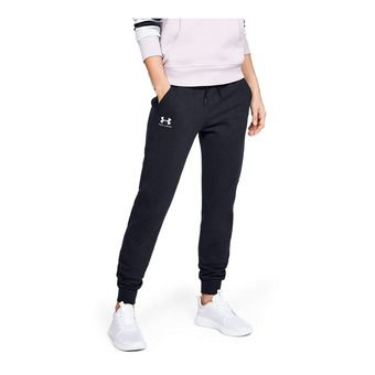 Under Armour RIVAL FLEECE SPORTSTYLE GRAPHIC - Pantalón de chándal mujer black