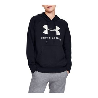 Under Armour RIVAL FLEECE SPORTSTYLE GRAPHIC - Sudadera mujer black