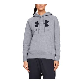 Under Armour RIVAL FLEECE SPORTSTYLE GRAPHIC - Felpa Donna steel medium heather
