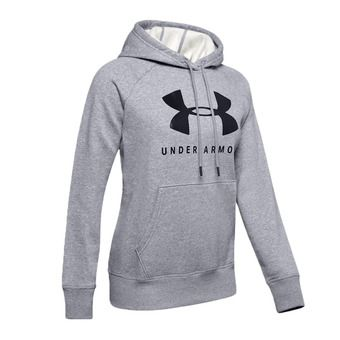 Under Armour RIVAL FLEECE SPORTSTYLE GRAPHIC - Sudadera mujer steel medium heather