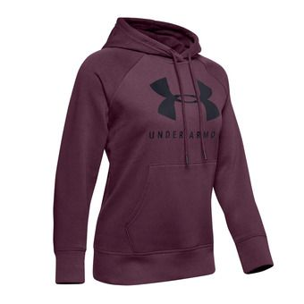 Under Armour RIVAL FLEECE SPORTSTYLE GRAPHIC - Sudadera mujer level purple