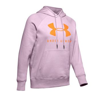 Under Armour RIVAL FLEECE SPORTSTYLE GRAPHIC - Sudadera mujer pink fog