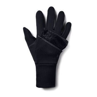 Under Armour RUN - Guantes convertibles mujer black