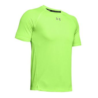 UA QUALIFIER SHORTSLEEVE-GRN Homme Lime Light1326587-884