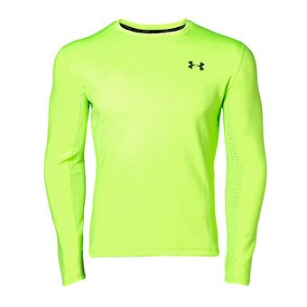 UA QUALIFIER COLDGEAR LONGSLEEVE-GRN Homme Lime Light1344061-884