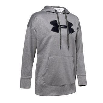 Under Armour SYNTHETIC FLEECE CHENILLE LOGO PO - Felpa Donna jet gray light heather