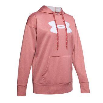 SYNTHETIC FLEECE CHENILLE LOGO PO HOODIE Femme Fractal Pink Light Heather1348246-692