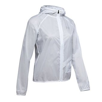 Under Armour QUALIFIER STORM GRAPHIC RUN - Chaqueta mujer halo gray