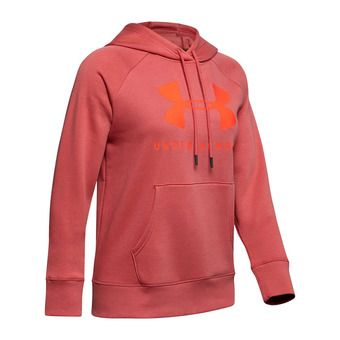 Under Armour RIVAL FLEECE SPORTSTYLE GRAPHIC - Sudadera mujer fractal pink