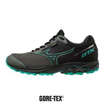 Mizuno WAVE RIDER GTX - Chaussures running Homme gunmetal/blk/bluedepths