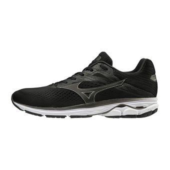 Mizuno WAVE RIDER 23 - Chaussures running Homme blk/blk/darkshadow