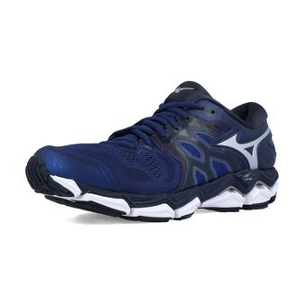 Mizuno WAVE HORIZON 3 - Chaussures running Homme eblue/silver/campanula