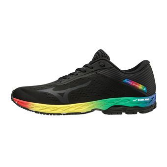 Mizuno WAVE SHADOW 3 - Chaussures running Homme black/magnet/black