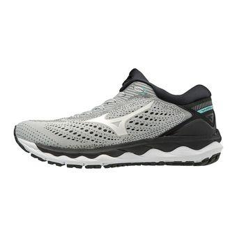 Mizuno WAVE SKY 3 - Chaussures running Femme glaciergray/wht/asplash