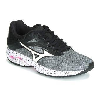 Mizuno WAVE RIDER 23 - Chaussures running Femme glaciergray/wht/blk