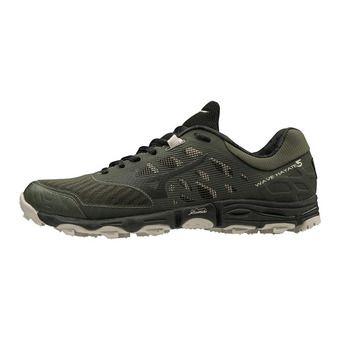 Mizuno WAVE HAYATE 5 - Chaussures trail Homme forestnight/blk/silvercl