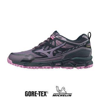 Mizuno WAVE DAICHI 4 GTX - Chaussures trail Femme psage/purplesage/crocus