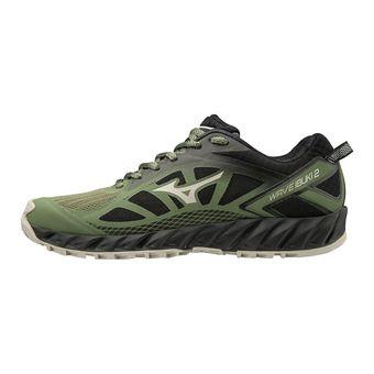Mizuno WAVE IBUKI 2 - Chaussures trail Femme olivine/silvercloud/blac
