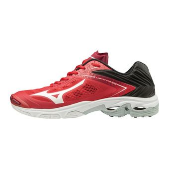Mizuno WAVE LIGHTNING Z5 - Chaussures volleyball tomato/wht/blk