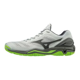 Mizuno WAVE STEALTH V - Chaussures handball Homme highrise/blk/greengecko