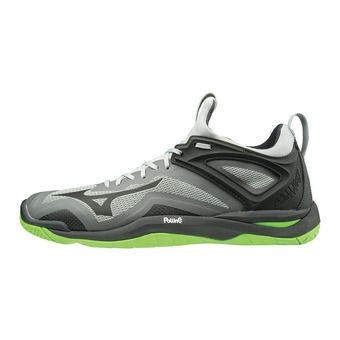 Mizuno WAVE MIRAGE 3 - Zapatillas de balonmano highrise/blk/greengecko