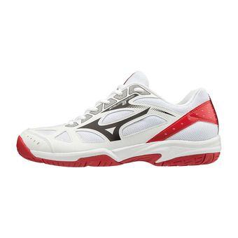 Mizuno CYCLONE SPEED 2 - Chaussures volleyball wht/blk/red186c