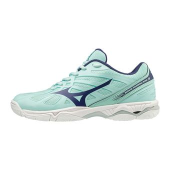 Mizuno WAVE HURRICANE 3 - Chaussures volley Femme blight/astralaura/bturqu