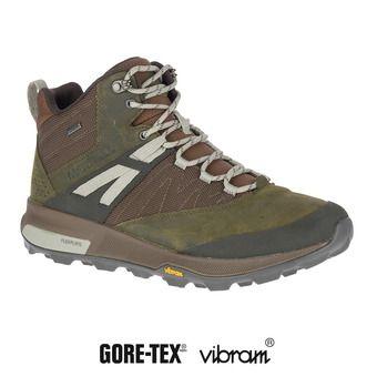 Merrell ZION MID GTX - Chaussures randonnée Homme dark olive